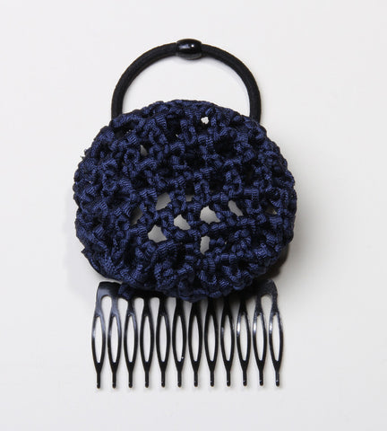 Navy/Denim Crochet Hair Bun