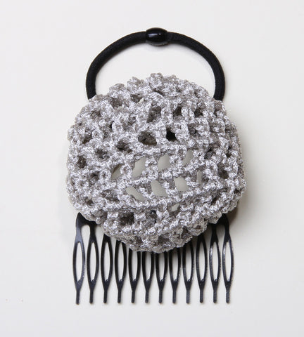 Silver Crochet Hair Bun