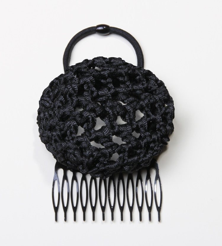 The Black Crochet Ballerina Hair Bun for Easy Up Hairdos from PonyBun Hair Buns and Hair Accessories for Women