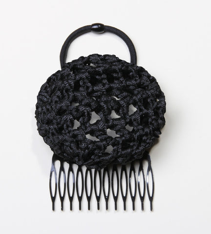 Black Crochet Hair Bun