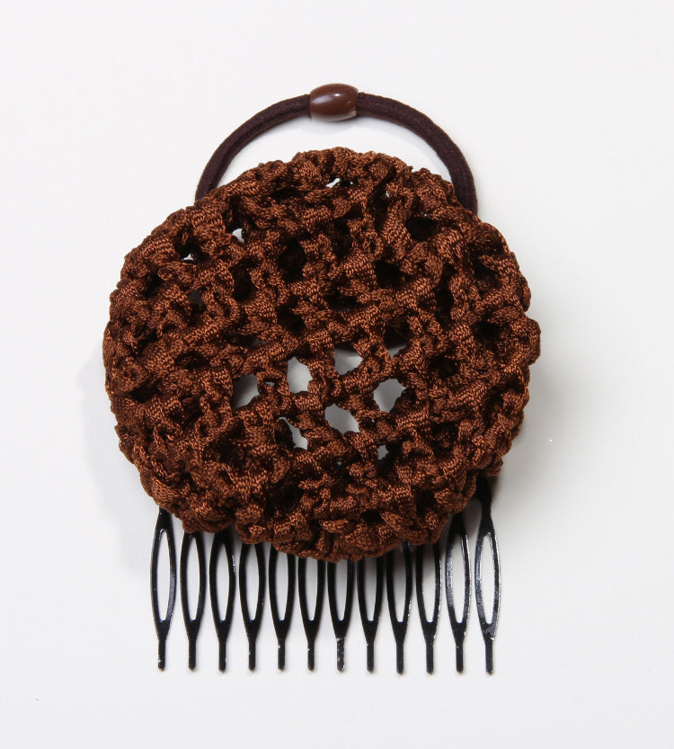 The Brown Crochet Ballerina Hair Bun for Easy Up Hairdos from PonyBun Hair Buns and Hair Accessories for Women