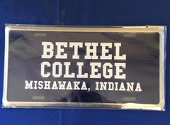 Bethel College License Plate