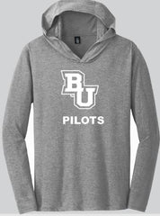BU long sleeve District hooded tee
