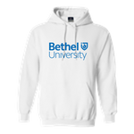 White Bethel University Stacked Sweatshirt