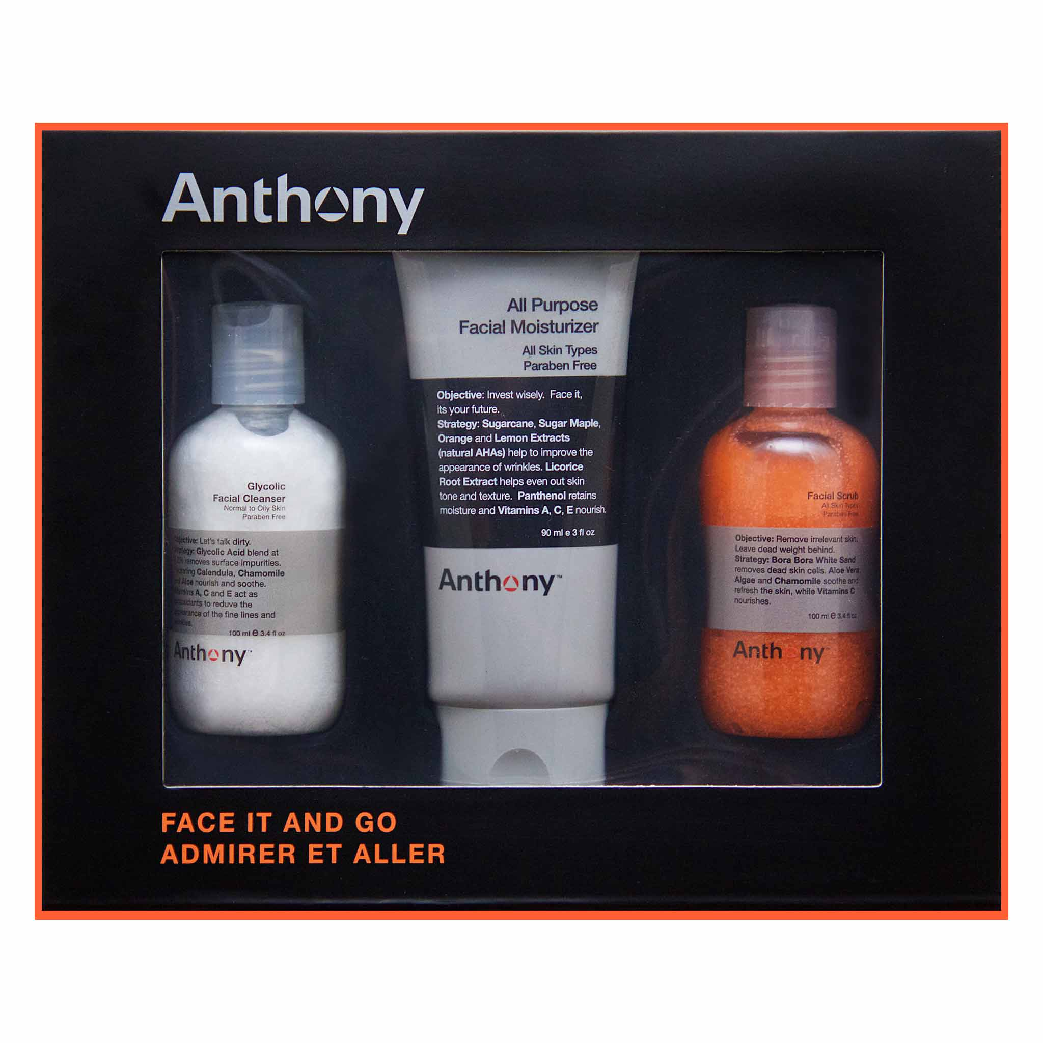 Anthony Skincare Face It & Go Kit I The Kings Of Styling