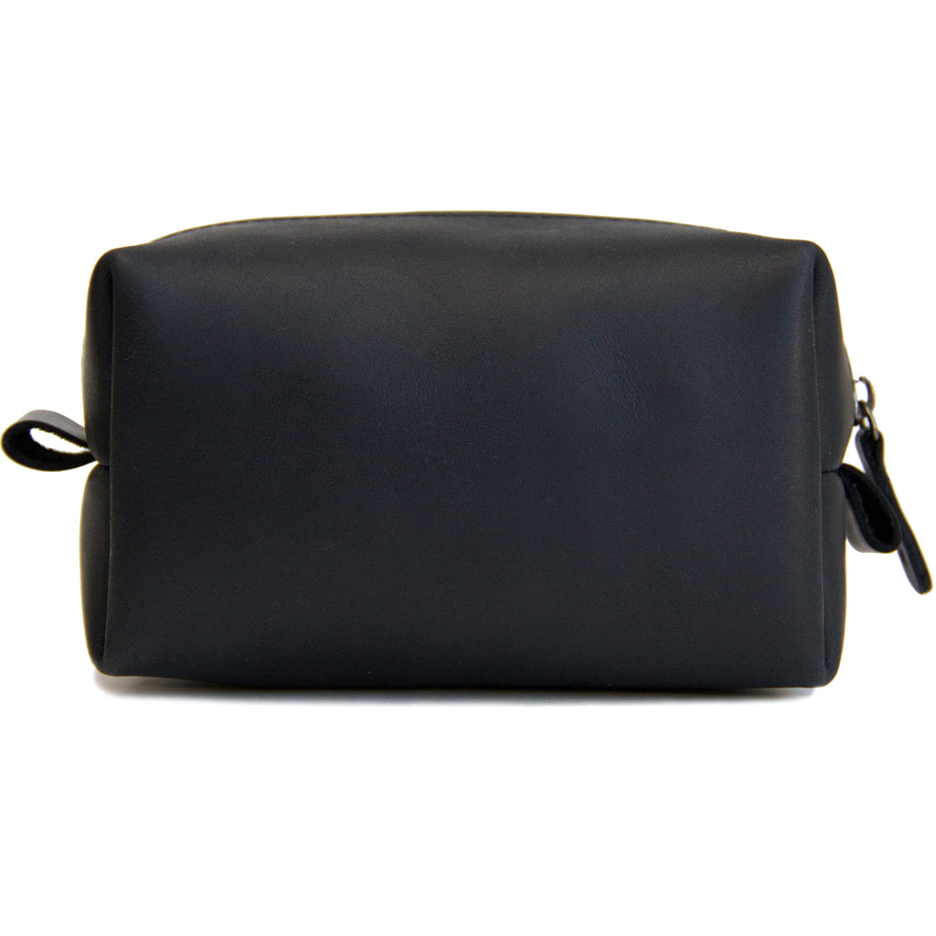 The Kings of Styling - Black Leather Dopp Kit