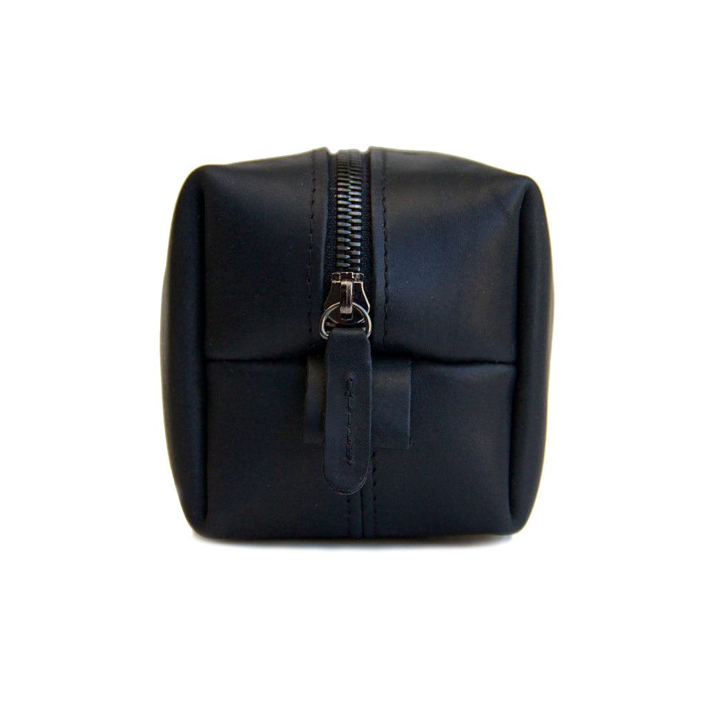 Black Leather Dopp Kit