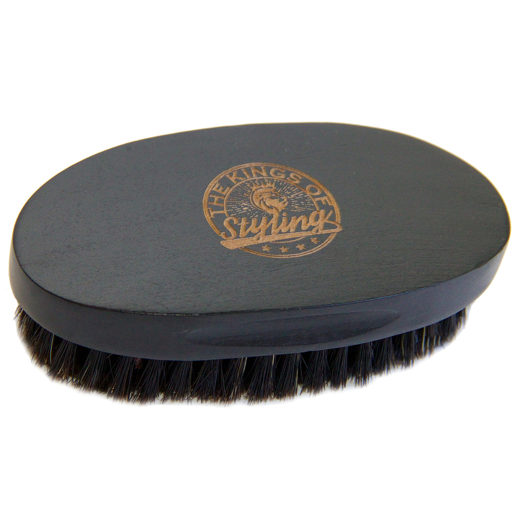 Black Oval Beard Brush