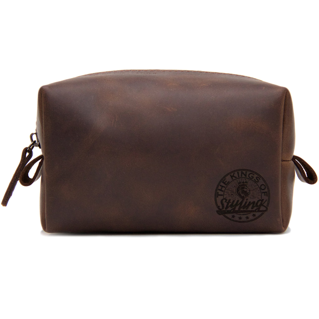 The Kings of Styling - Brown Leather Dopp Kit