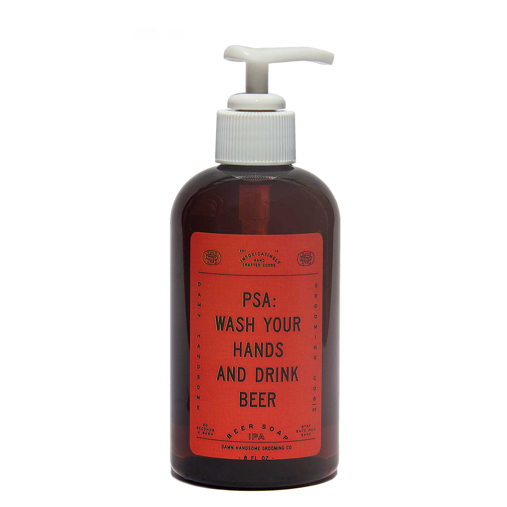 Damn Handsome Grooming Co. PSA Beer Hand Soap