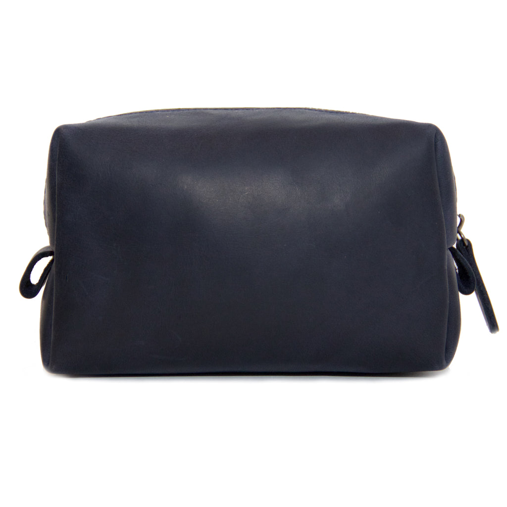 The Kings of Styling - Dark Blue Leather Dopp Kit