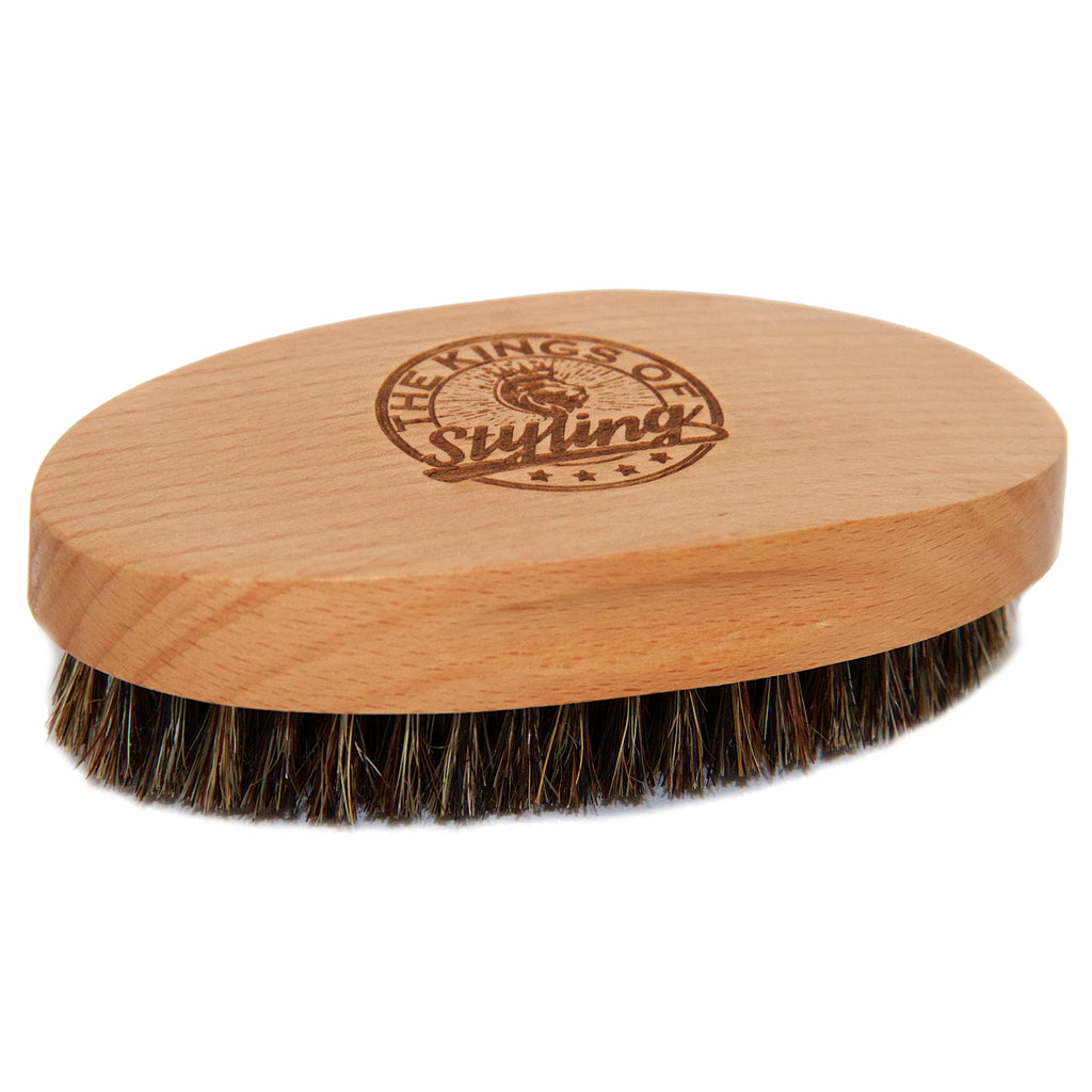 Wood Oval Beard Brush