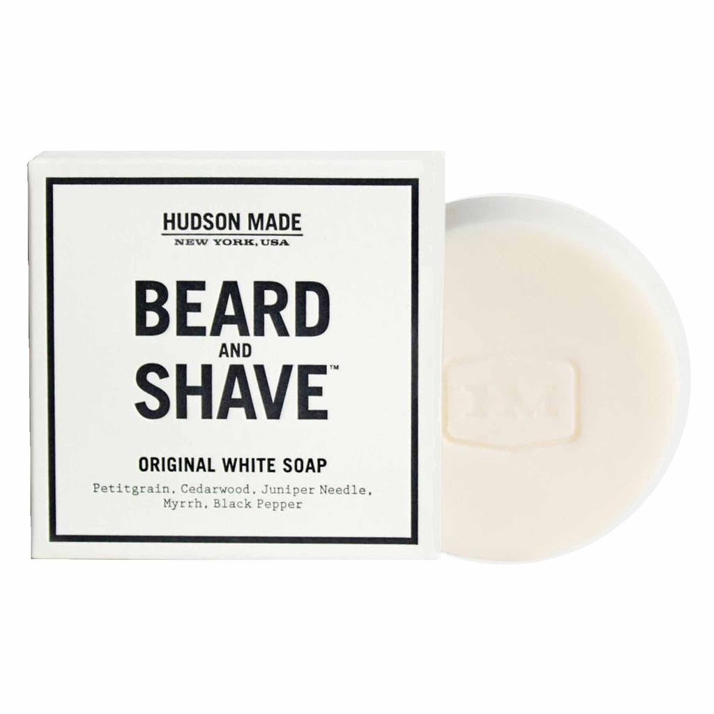 Hudson Made New York - The Beard and Shave Original White Soap