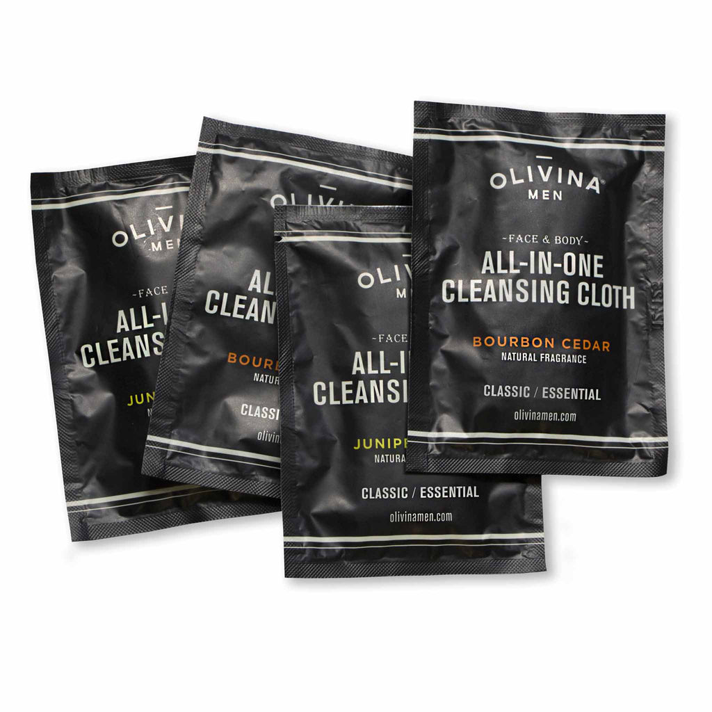 Olivina Men All-in-One Juniper Tonic Cleansing Cloths