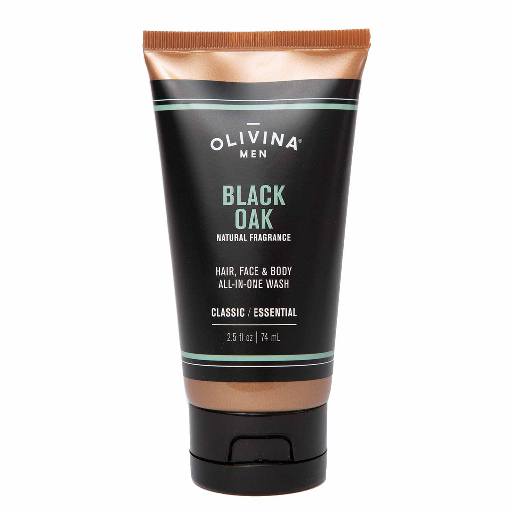 Olivina Men All-in-One Body Wash Black Oak Travel Size