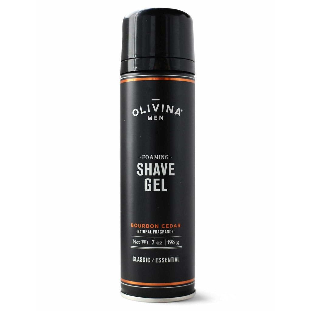 Olivina Men Foaming Shave Gel 7 oz - Bourbon Cedar