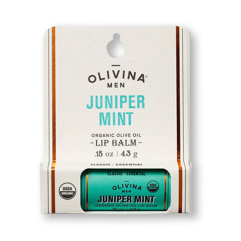 Olivina Men Juniper Mint Organic Olive Oil Lip Balm