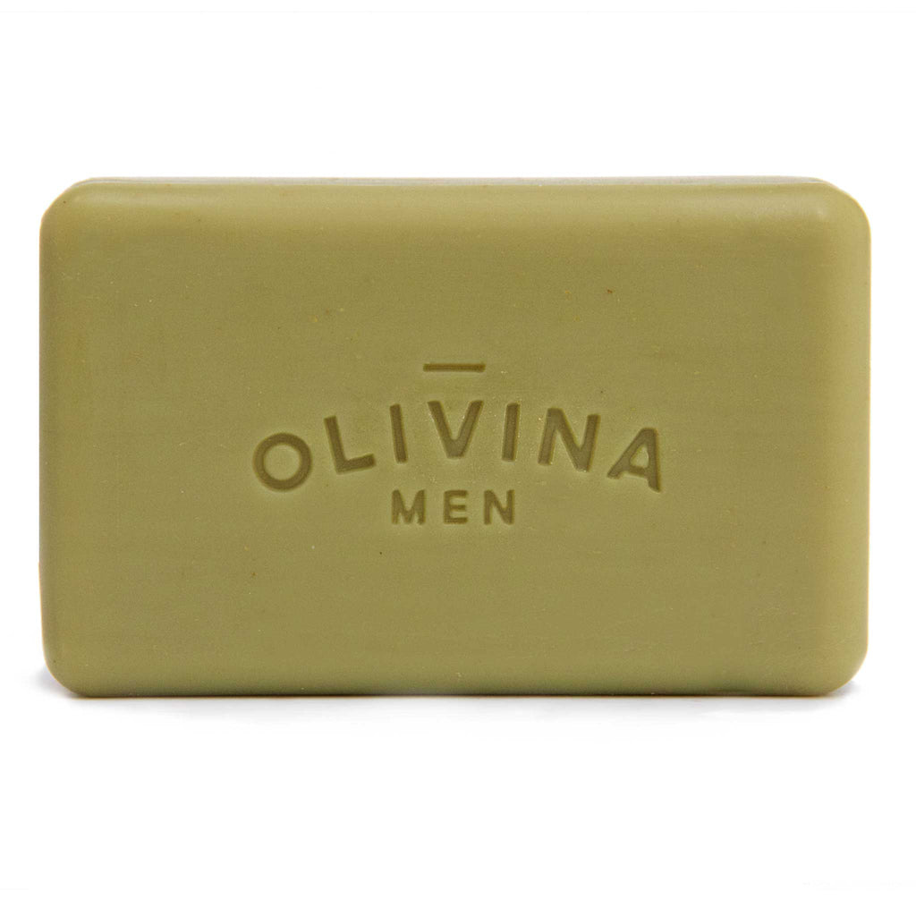Olivina Men Juniper Tonic Exfoliating Bar Soap