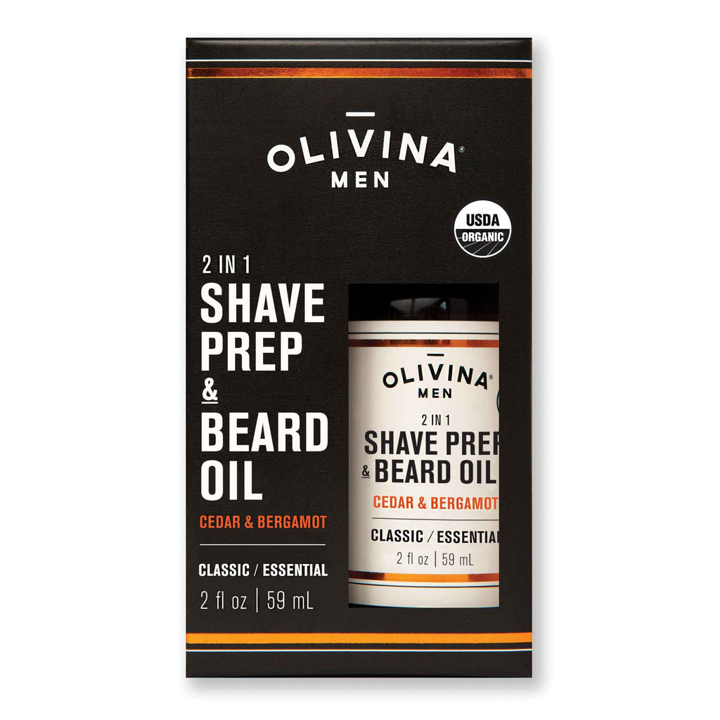 Olivina Men Organic Shave Prep & Beard Oil