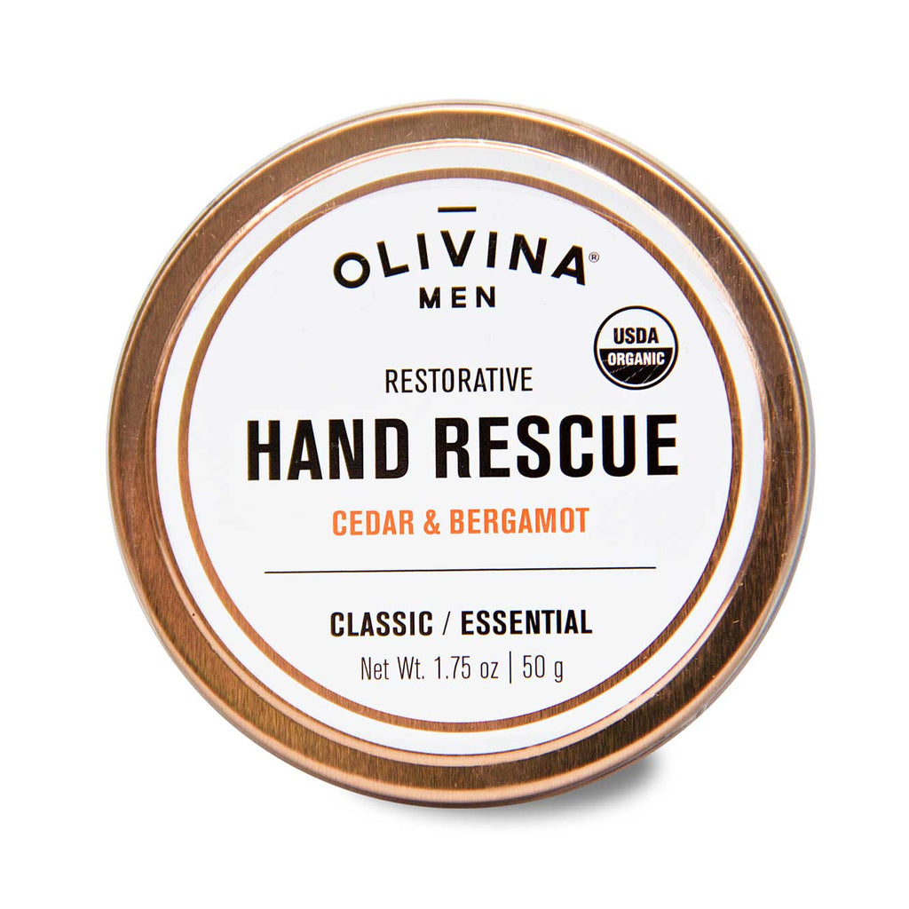 Olivina Men Classic Shave Soap - USDA Organic Restorative Hand Rescue