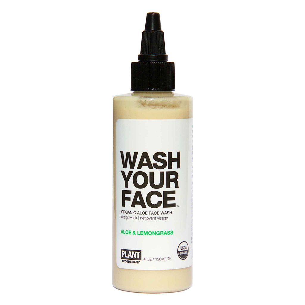 Plant Apothecary - WASH YOUR FACE Certified Organic Aloe Face Wash