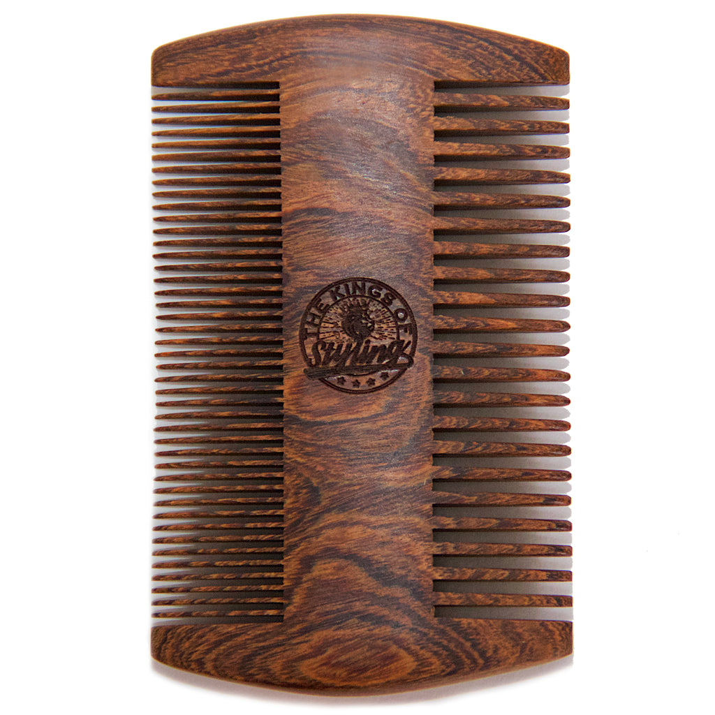 The Kings of Styling - Double Sided Golden Sandalwood Comb