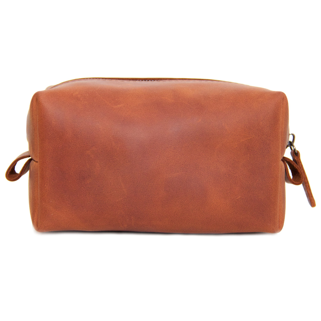 Whiskey Leather Dopp Kit