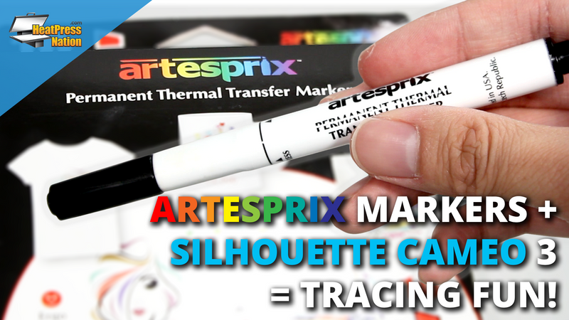 Artesprix Sublimation Markers + Silhouette Cameo = Tracing Fun!