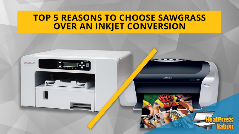 Top 5 Reasons to Choose Sawgrass Over an Inkjet Conversion