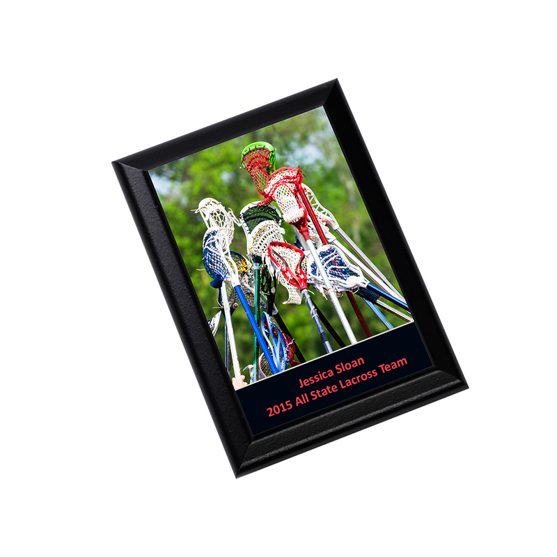 "Unisub Sublimation Blank Plaque : Black Ogee Edge : 7"" x 9"" - 5 Pack"