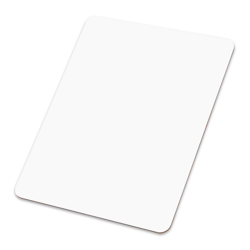 "Unisub Sublimation Blank Hardboard Dry Erase Message Board - 9"" x 12.5"" - 5 Pack"