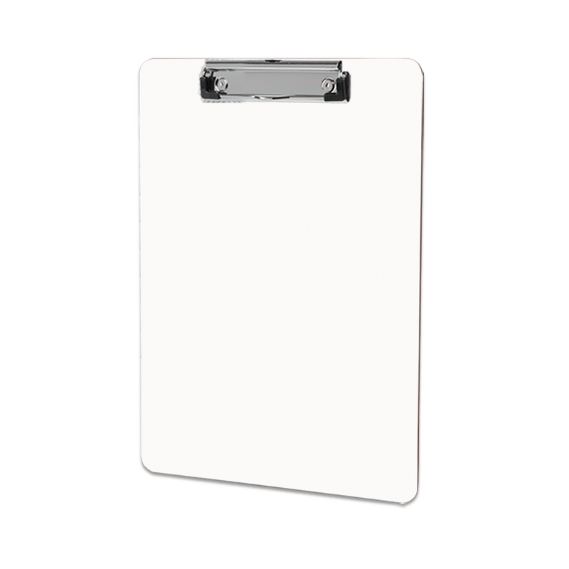 "Unisub Sublimation Blank Clipboard with Flat Clip : Gloss White : 9"" x 12.5"" - 6 Pack"