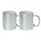 11 oz. Metallic Ceramic Sublimation Mug - 36 Per Case