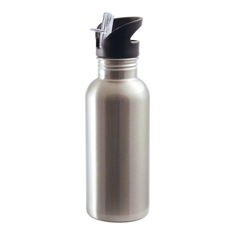 20 oz. Stainless Steel Sublimation Water Bottle - Straw Top - 48 Per Case
