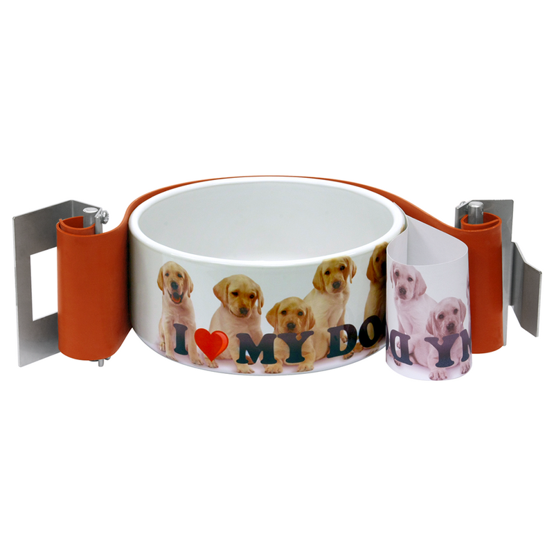"HIX 3"" Straight Wall Sublimation Oven Dog Bowl Wrap"