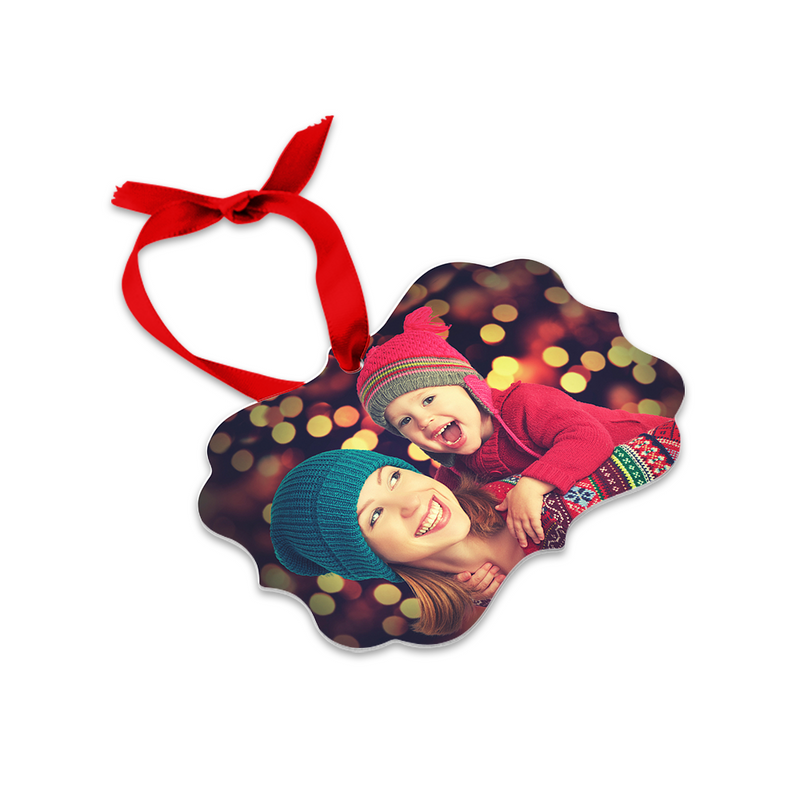 "Unisub Creative Borders Sublimation Blank Ornament : Benelux : 3.95"" x 2.76"" - 10 Pack"