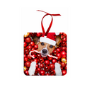 "Unisub Sublimation Blank Ornament - Jumbo Square - 3.9"" x 3.9"" - 10 Pack"