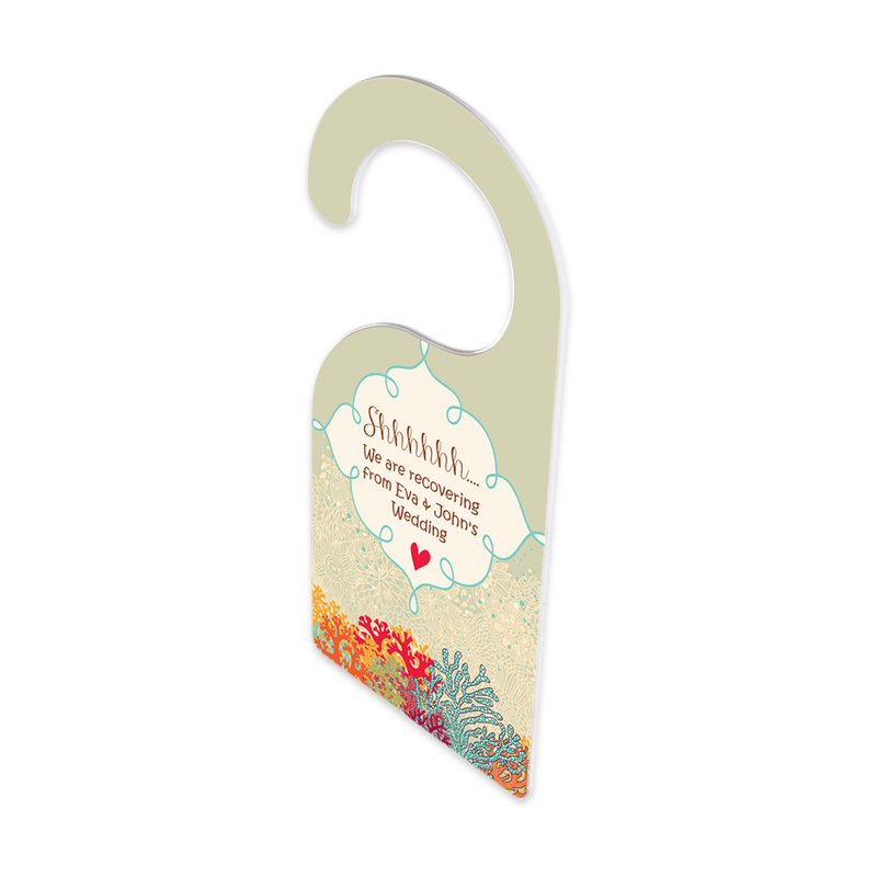 "Unisub FRP Sublimation Blank Door Hanger : Double Sided : 4"" x 9"" - 10 Pack"