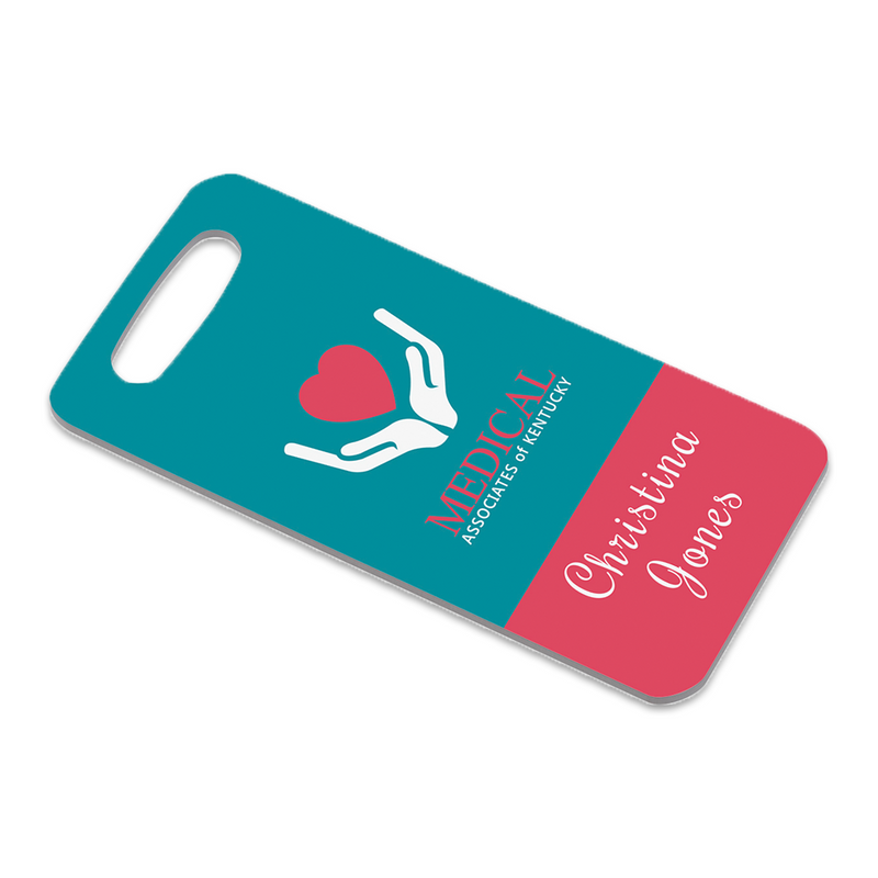 "Unisub Sublimation Blank Bag Tag : Rectangle : 1.75"" x 3.5"" - 5 Pack"