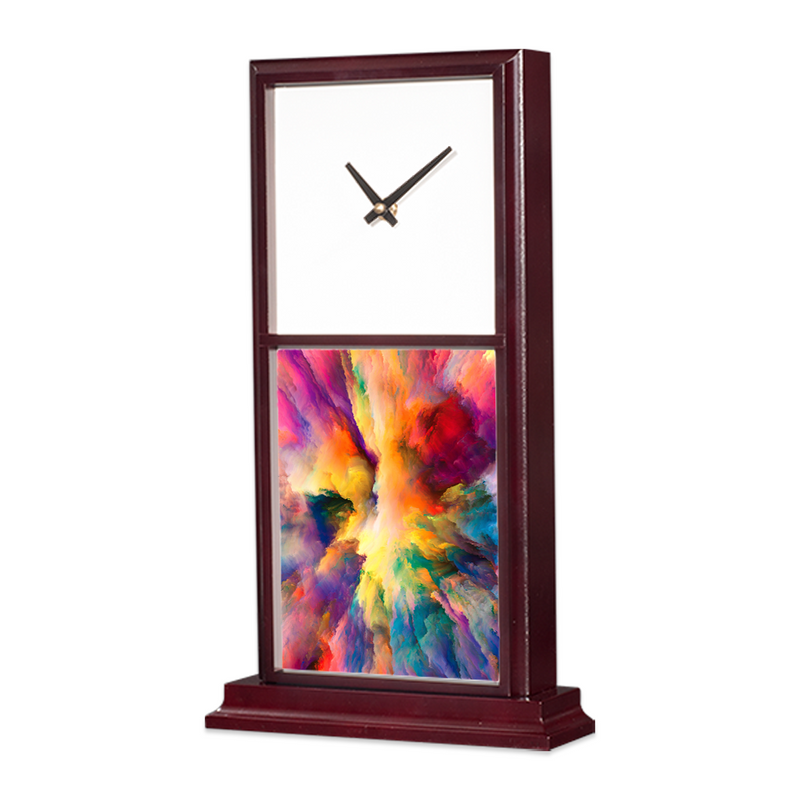 "Unisub Mantle Clock Vertical Sublimation Blank Tile Insert : 6"" x 7.875"" - 5 Pack"