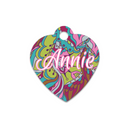 "Unisub Sublimation Blank Pet Tag : Heart : 1.25"" x 1.38"" - 5 Pack"
