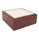 "4"" x 4"" Jewelry Box with Sublimation Photo Tile Lid Insert - 36 Per Case"