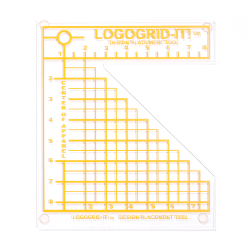 Graphic Alignment System with Tee Square It! and Logo GRID It!
