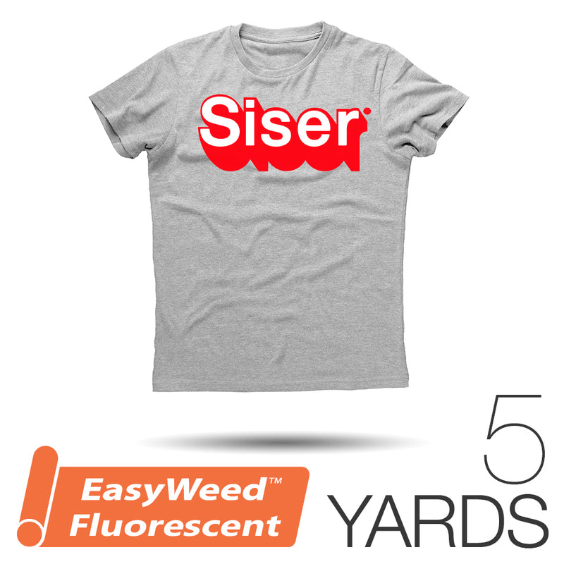 "Siser EASYWEED FLUORESCENT Heat Transfer Vinyl - 15"" x 5 Yards"