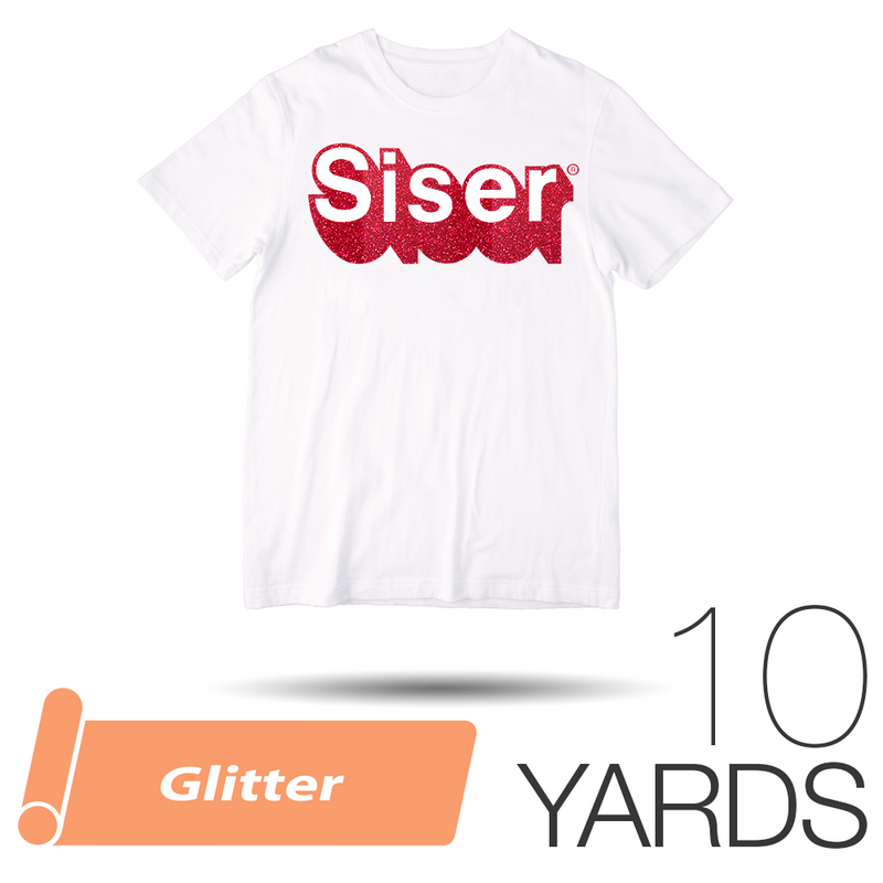 "39 COLORS Siser Glitter HTV T-Shirt Vinyl 20/"" x 10 Yards"