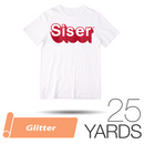 "Siser GLITTER Heat Transfer Vinyl - 20"" x 25 Yards"