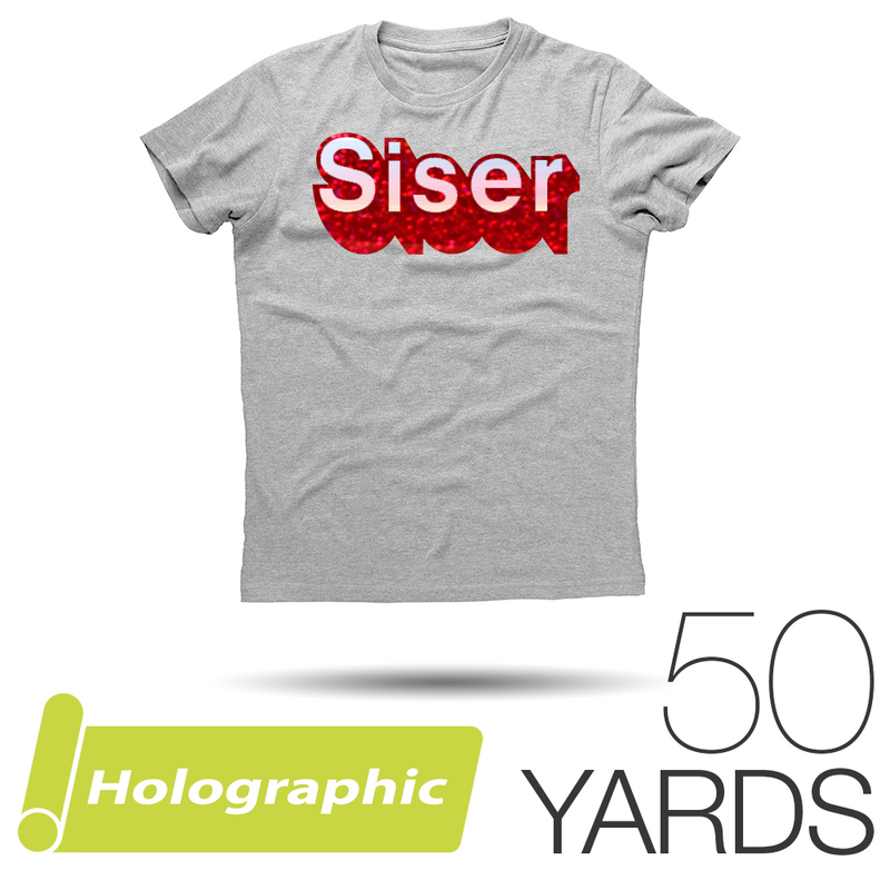 "Siser HOLOGRAPHIC Heat Transfer Vinyl - 20"" x 50 Yards"