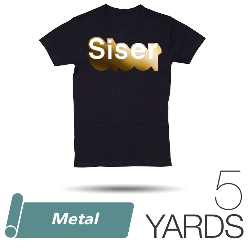 "Siser METAL Heat Transfer Vinyl - 20"" x 5 Yards"