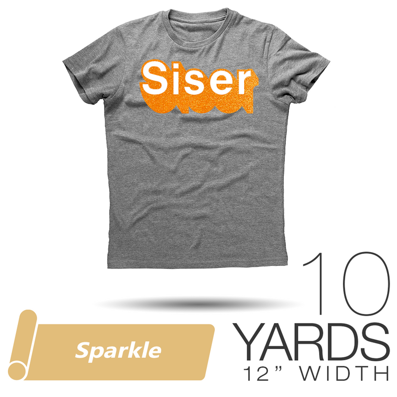 "Siser SPARKLE Heat Transfer Vinyl - 12"" x 10 Yards"