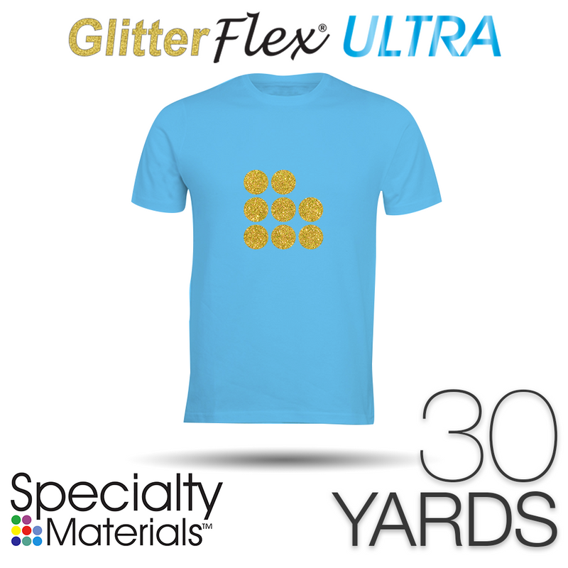 "Specialty Materials GLITTERFLEX ULTRA Heat Transfer Vinyl - 19.5"" x 30 Yards"